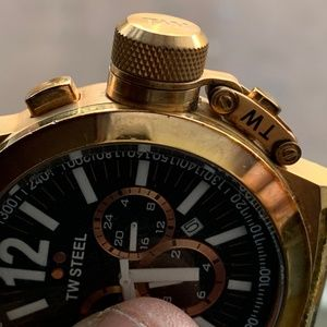 TW Steel Accessories - TW Steel CE1023 Men's Chronograph  45mm Gold Watch
